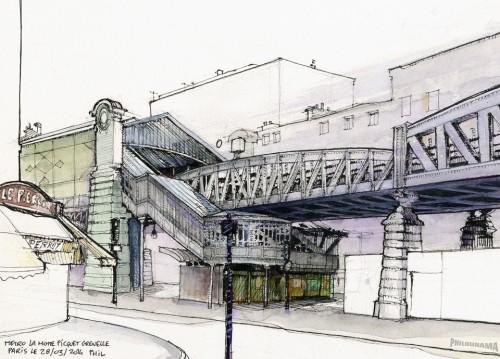 Paris, station de métro La Motte Picquet Grennelle
