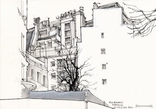 Paris, vue de l'ancien immeuble où habiatait Jacqueline Maillan, Rue Benjamin Francklin