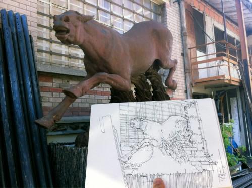 Puces de Saint Ouen, cheval rouillé