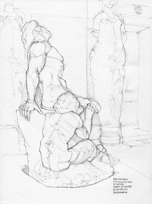 Musée du Louvre, Pan retirant une épine du pied, sculpture