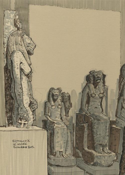 Musée du louvre, Egyptologie, Feutre