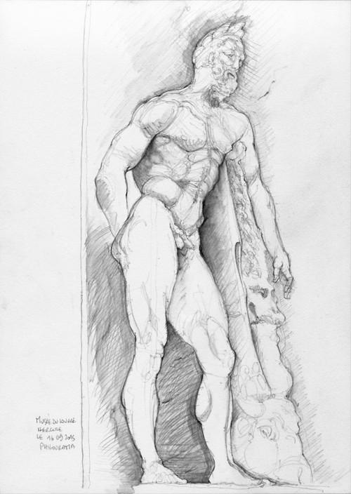 Musée du Louvre, sculpture de Hercule