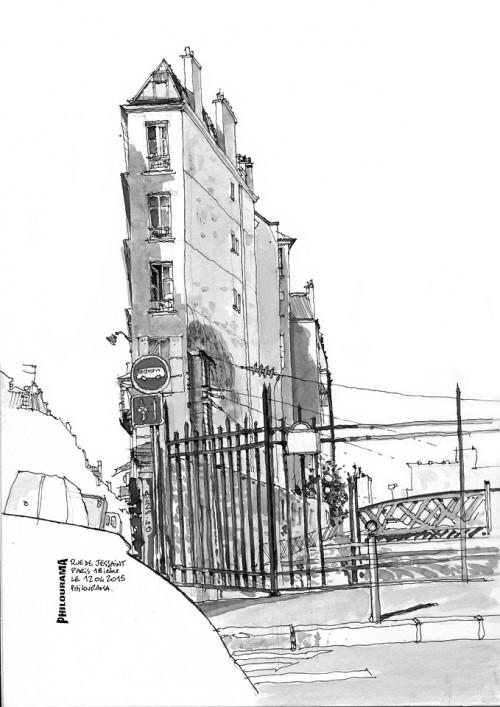 Paris, rue de Jessaint, 18ième