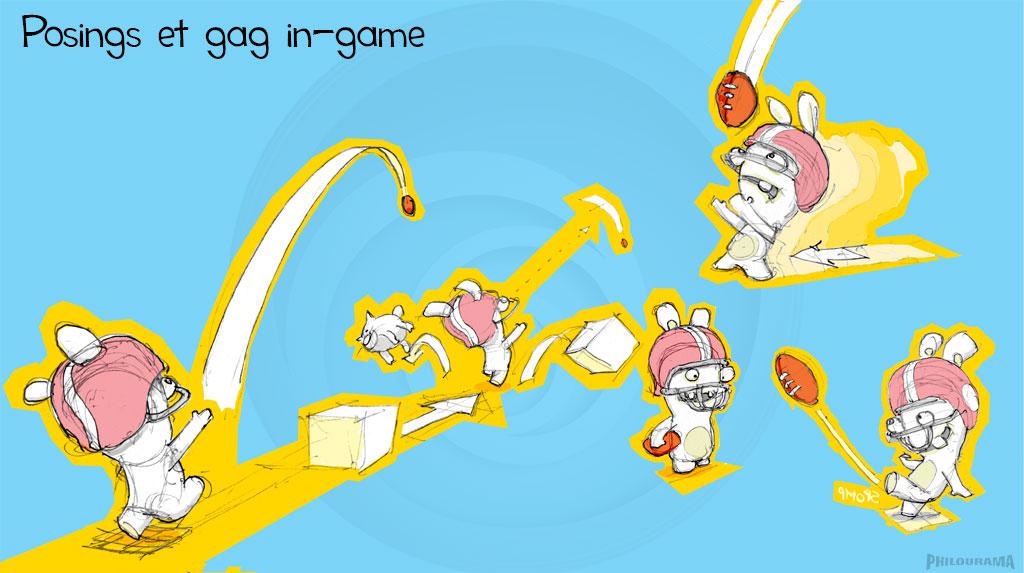 Recherches de gag pour séquence gameplay programing in-game